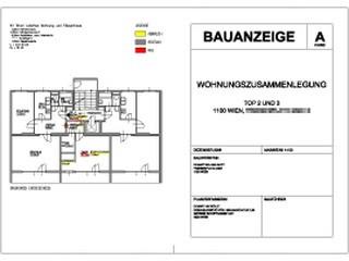 Plan für Bauanzeige